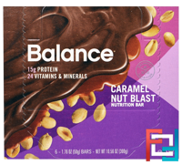 Nutrition Bar, Caramel Nut Blast, Balance Bar, 6 Bars, 1.76 oz (50 g) Each