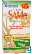 The Original SAM-e (S-Adenosyl-L-Methionine), 400 mg, NutraLife, 30 Enteric Coated Tablets