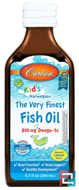 Kid's, The Very Finest Fish Oil, Natural Lemon Flavor, Carlson Labs, 6.7 fl oz (200 ml)