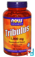 Tribulus, Sports, Now Foods, 1000 mg, 180 tablets