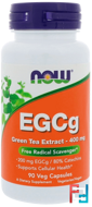 EGCg, Green Tea Extract, Now Foods, 400 mg, 90 Veg Capsules
