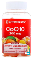 CoQ10 Gummy Vitamins, Peach Flavor, Nutrition Now, 60 Gummy Vitamins