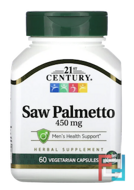 Saw Palmetto Extract, Standardized, 21st Century, 60 Veggie Caps