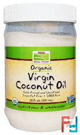 Real Food, Organic Virgin Coconut Oil, Now Foods, 20 fl oz (591 ml)