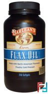 Lignan Flax Oil, Barlean's, 250 Softgels
