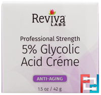 5% Glycolic Acid Cream, Anti Aging, Reviva Labs, 1.5 oz, 42 g