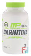 Carnitine, Essentials, MusclePharm, 500 mg, 60 Capsules