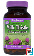 Milk Thistle Fruit & Seed Extract, Bluebonnet Nutrition, 120 Veggie Caps