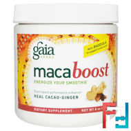 Maca Boost, Real Cacao-Ginger, Gaia Herbs, 8 oz (227 g)