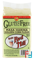 Masa Harina Golden Corn Flour, Gluten Free, Bob's Red Mill, 24 oz (680 g)