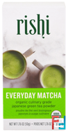 Organic Everyday Matcha Powder, Rishi Tea, 1.76 oz, 50 g