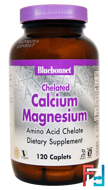 Calcium Magnesium, Chelated, Bluebonnet Nutrition, 120 Caplets