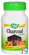 Charcoal, Activated, Nature's Way, 280 mg, 100 Capsules