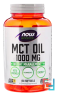 Sports, MCT Oil, Now Foods, 1,000 mg, 150 Softgels