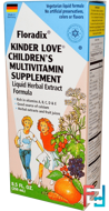 Floradix, Kinder Love, Children's Multivitamin Supplement, Flora, 8.5 fl oz, 250 ml