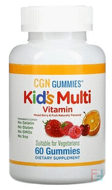 Kid's Multi Vitamin Gummies, No Gelatin, Mixed Berry and Fruit Flavor, California Gold Nutrition, 60 Gummies