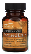 Etherium Gold, Focused Brain, Harmonic Innerprizes, 60 Vegetarian Capsules