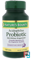 Acidophilus Probiotic, Nature's Bounty, 120 Tablets