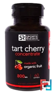 Tart Cherry Concentrate, 800 mg, Sports Research, 60 Softgels