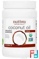 Organic Coconut Oil, Virgin, Nutiva, 29 fl oz (858 ml)