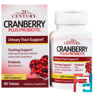 Cranberry Plus Probiotic, 21st Century, 60 Tablets