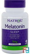 Melatonin, Extra Strength, Natrol, 5 mg, 60 Tablets