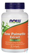 Saw Palmetto Extract, With Pumpkin Seed Oil and Zinc, Now Foods, 160 mg, 90 Softgels