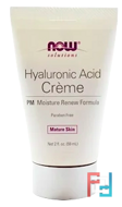 Hyaluronic Acid Creme, PM Moisture Renew Formula, Now Foods, Solutions, 2 fl oz (59 ml)