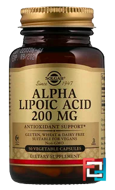 Alpha Lipoic Acid, Solgar, 200 mg, 50 Vegetable Capsules