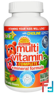 Multi Vitamin Complete + Mineral Formula, Delicious Fruit Flavors, Yum-V's, 120 Jelly Bears