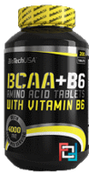BCAA + B6, BioTech USA, 200 tablets