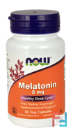 Melatonin, Now Foods, 5 mg, 60 Veg Capsules