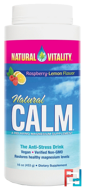Natural Calm, The Anti-Stress Drink, Organic Raspberry-Lemon Flavor, Natural Vitality, 16 oz (453 g)