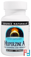 Huperzine A, Source Naturals, 200 mcg, 120 Tablets