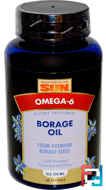 Borage Oil, Health From The Sun, 60 Softgels