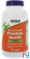 Clinical Strength Prostate Health, Now Foods, 180 Softgels