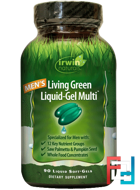 Men's Living Green Liquid-Gel Multi, Irwin Naturals, 90 Liquid Soft-Gels