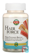 Hair Force, High Potency Biotin, KAL, 60 Veggie Caps