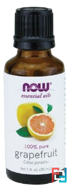 Essential Oils, Grapefruit, Now Foods, 30 ml