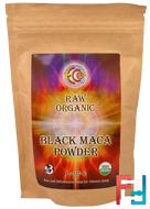 Raw Organic Black Maca Powder, Earth Circle Organics, 8 oz, 227 g