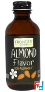 Almond Flavor, Non-Alcoholic, Frontier Natural Products, 2 fl oz, 59 ml
