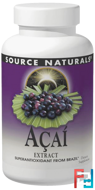 Acai Extract, 500 mg, Source Naturals, 120 Capsules