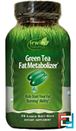 Green Tea Fat Metabolizer, Irwin Naturals, 75 Liquid Soft-Gels