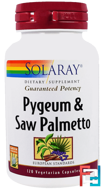 Pygeum & Saw Palmetto, Solaray, 120 Vegetarian Capsules
