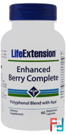 Enhanced Berry Complete, Life Extension, 60 Veggie Caps