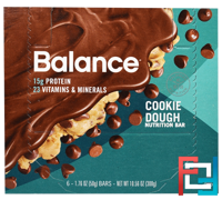Nutrition Bar, Cookie Dough, Balance Bar, 6 Bars, 1.76 oz (50 g) Each