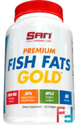 Premium Fish Fats Gold, SAN, 120 softgels