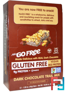 NuGo Free, Gluten Free, Dark Chocolate Trail Mix, NuGo Nutrition, 12 Bars, 1.59 oz (45 g) Each
