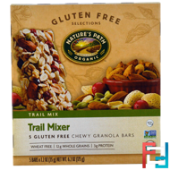 Organic, Trail Mixer, Chewy Granola Bars, Gluten Free, Nature's Path, 5 Bars, 1.2 oz (35 g) Each