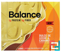 Nutrition Bar, Dulce De Leche & Caramel, Balance Bar, 6 Bars, 1.41 oz (40 g) Each